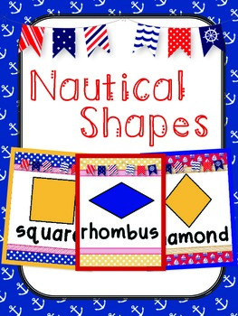 **Nautical Themed** Shape Posters