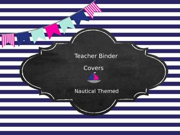 Nautical Themed Teacher Binder Covers
