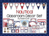 Nautical and Sailing Theme Classroom Decor Set and Labels