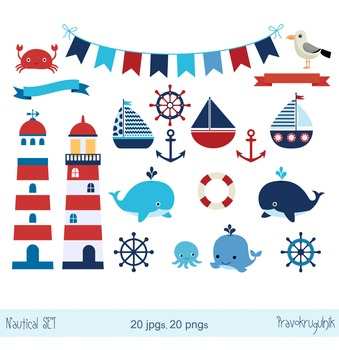 Nautical clip art, Sailing clipart, Sailboats, Lighthouse, Anchor