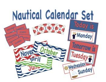 Nautical themed Calendar Set