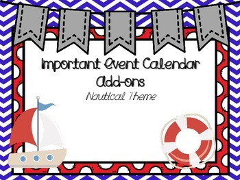 Nautical/Beach Calendar Add-ons
