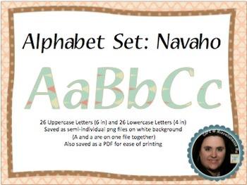 Navajo Theme Printable Alphabeto