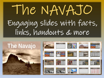 Navajo 22-slide PPT 10 facts, key words, graphic organizer