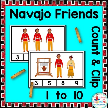 Navajo Friends Count and Clip - A Native American Math Center