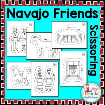 Navajo Friends Scissoring - A Native American Fine Motor D