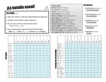 Naval Battle Spanish game