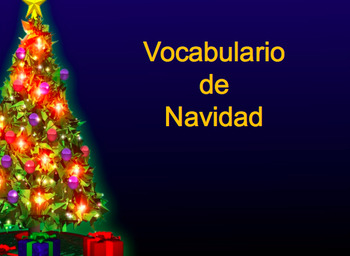 Navidad PowerPoint , Vocabulary Activity and Bingo Card in