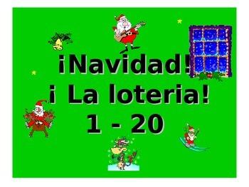Teaching Resources. Navidad Spanish Christmas Loteria: Num