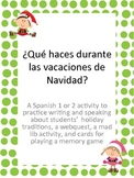 Navidad or Christmas Traditions, Webquest, and mad libs fo