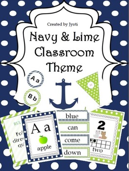 Navy & Lime Classroom Theme