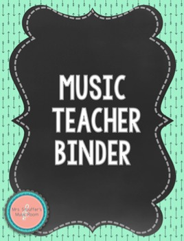 Navy Mint Chalkboard Music Teacher Binder {Editable}