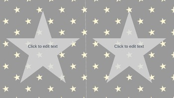 Navy Star Labels **Editable**