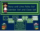 Navy and Lime Polka Dot Calendar Set and Class Set