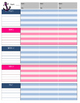 Navy and Pink Nautical Lesson Plan Pages