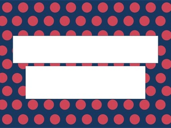 Navy and Pink Polka Dot PowerPoint Template