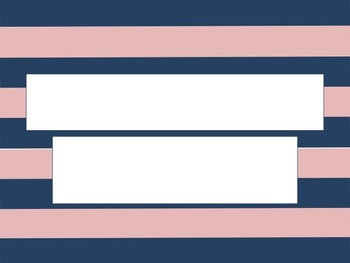 Navy and Pink Stripe PowerPoint Template