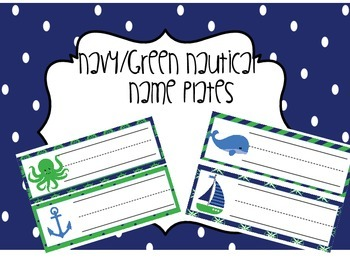 Navy/Green Nautical Nameplate