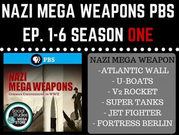 Nazi Mega Weapons PBS  Season 1 Bundle Ep. 1-6 World War II
