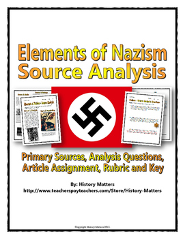 The Nazi State - Source Analysis Questions with Assignment