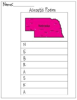 Nebraska Acrostic Poem