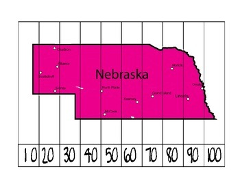Nebraska Counting Puzzle Map