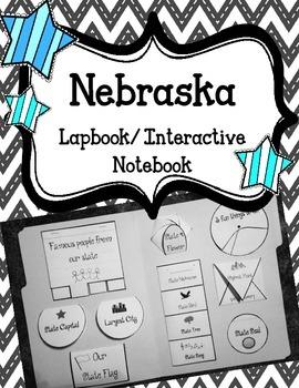 Nebraska State Lapbook/Interactive Notebook.  US State His