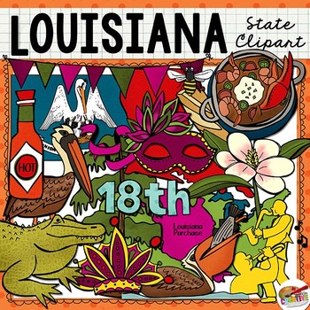 Louisiana State Clip Art