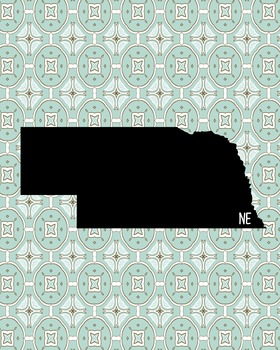 FREEBIE! Nebraska Vintage State Map or Poster Class Decor,