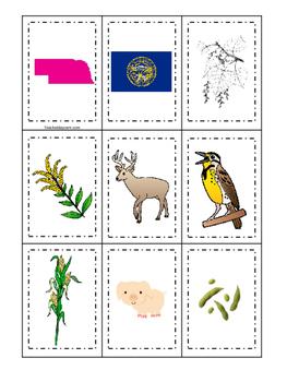 Nebraska themed Memory Matching and Word Matching preschoo
