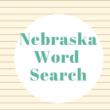 Nebraska word search