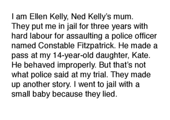 Ned Kelly playact - script