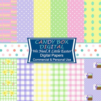 Need A Little Easter Digital Background Papers