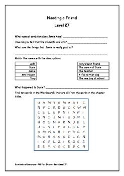 Needing a Friend Level 27 Activity Sheet
