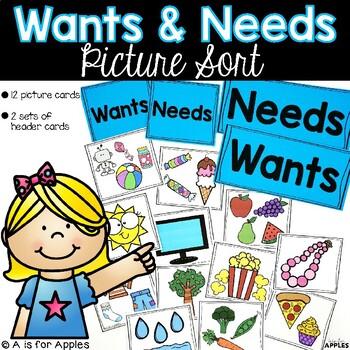Needs and Wants Pocket Chart Cards {FREEBIE}