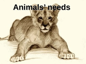 Needs of Living Things:Animal Needs (animations) (Includes
