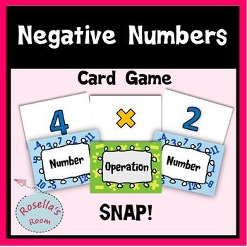 Negative Number Card Game