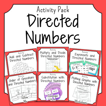 Negative Numbers Activities