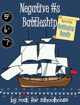 Negative Numbers Number line Battleship Game