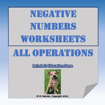 Negative Numbers Practice Worksheets (All Operations)