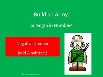 Negative (directed) Numbers Activity (add & subtract): Bui