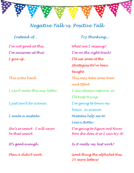 Negative vs. Positive Talk