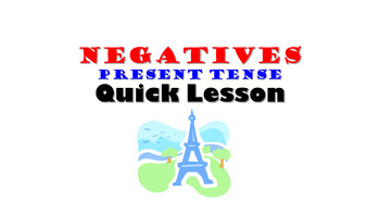 Negatives in the Present Tense (ne  pas): French Quick Lesson