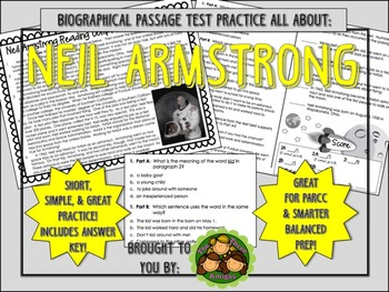 Neil Armstrong-Biographical Passage Practice
