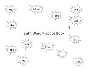 Sight Word Handwriting Practice Books BUNDLE