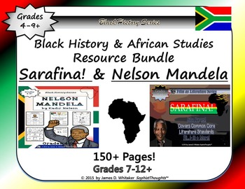 Nelson Mandela by Kadir Nelson Book Study & Sarafina Film