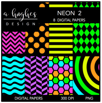 Neon 2 {12x12 Digital Papers for Commercial Use}
