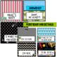 Neon Alphabet Labels~ Editable