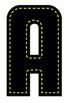 Neon Alphabet in Stitches - Digital Stamp - Black and Neon