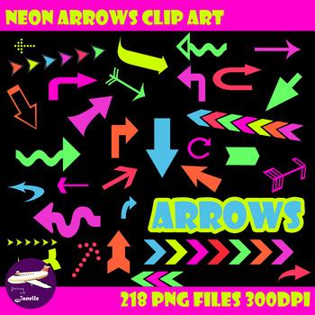 Neon Arrow Clip Art